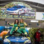 Marine PELAMOURGUES  championne de France Rallyes Co-pilotes