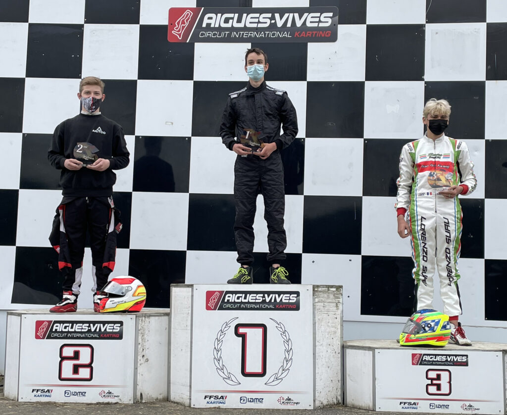 Karting - Podium Nationale- Championnat Sud 2021