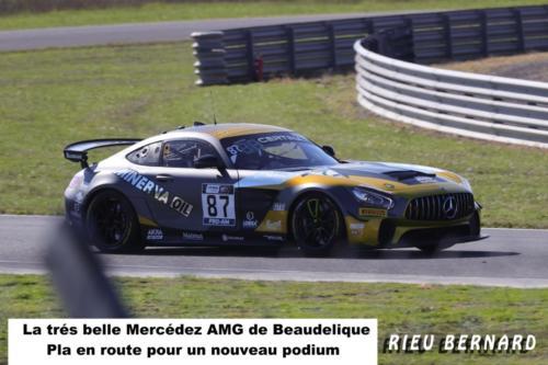 La très belle Mercedes AMG de Beaubelique -Pla  en route pour un nouveau podium