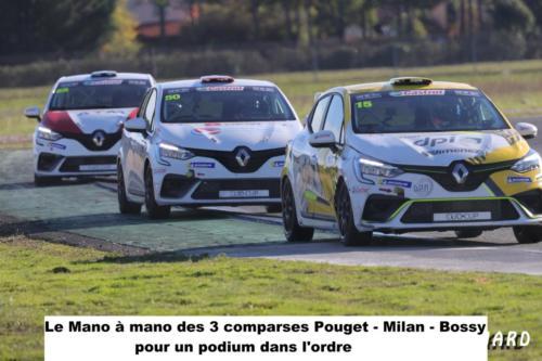 le mano à mano des trois comparses Pouget- Milan-Bossy pour un podium dans l'ordre